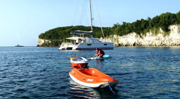 Paddle kayaks catamaran enfant Guadeloupe