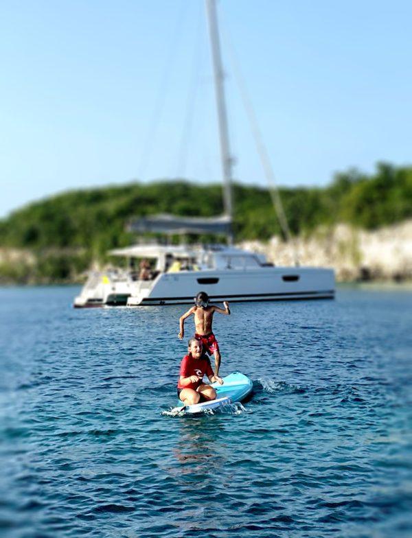 Paddle kayaks catamaran enfants Guadeloupe